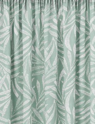Cotton Fern Pencil Pleat Blackout Curtains