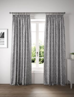 Cotton Fern Pencil Pleat Blackout Curtains