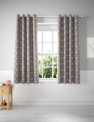 Cotton Mix Rainbow Eyelet Kids' Curtains