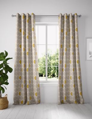 Layla Circles Eyelet Curtains