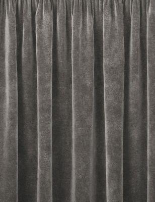 Velvet Pencil Pleat Curtain
