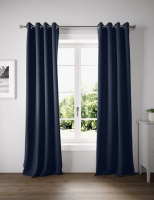 Pure Cotton Eyelet Curtains