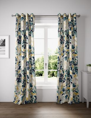 Watercolour Eyelet Curtains
