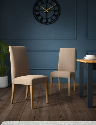 Set of 2 Alton Checked Dining Chairs