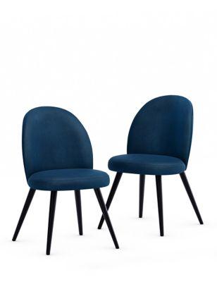 Set of 2 Velvet Dining Chairs