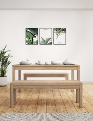 Cora Dining Table with Benches