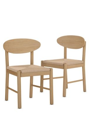 Set of 2 Cord Dining Chairs
