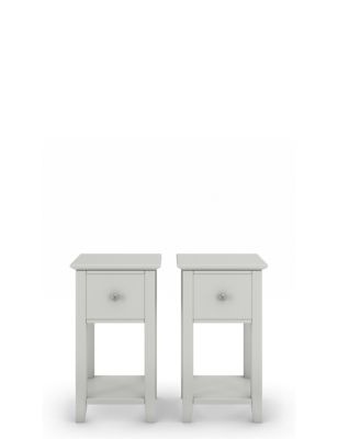 Set of 2 Hastings Small Bedside Tables