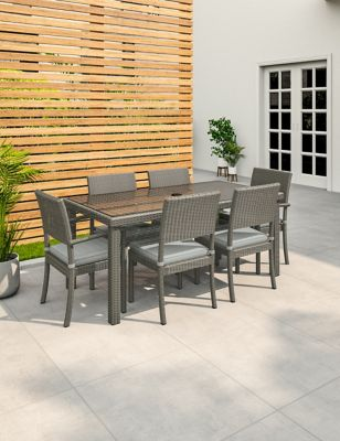 Marlow 6 Seater Garden Table & Chairs