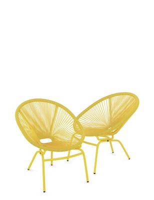 Set of 2 Lois Garden Armchairs