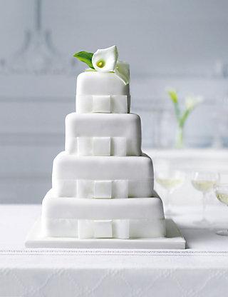 4 Tier Elegant Chocolate Wedding Cake