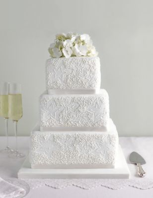two tier sponge wedding cake recipe lace sponge wedding cake m amp s 21348