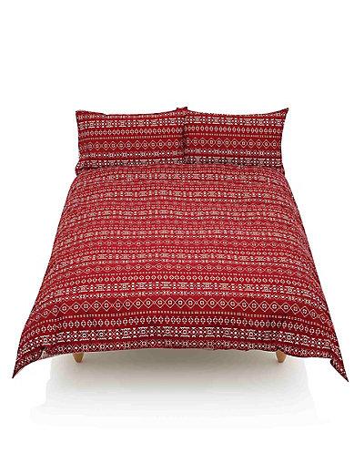 Fair Isle Stag Print Bedding Set | M&S