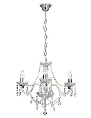 Romance clear 3 arm chandelier ms mozeypictures Images