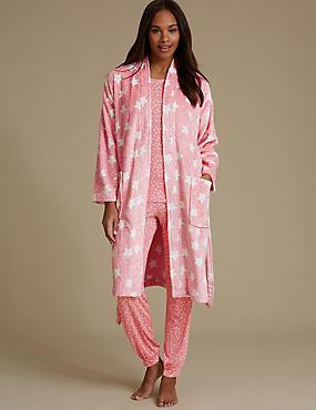Pyjamas Set with Shimmer Dressing Gown, , catlanding