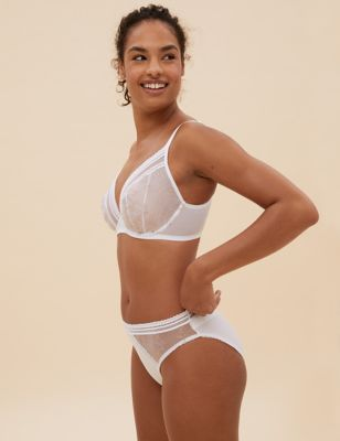 Archive Embroidery Underwired Plunge Bra Set A-E