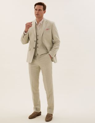Tailored Fit Italian Linen Miracle™ 3 Piece Suit