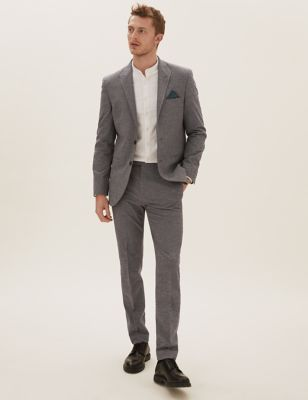 Grey Slim Fit Suits
