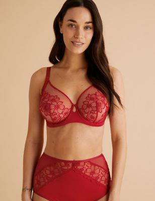 Embrace Embroidered Underwired Full Cup Bra Set A-E