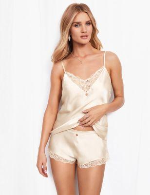 Silk & Lace Lurex Camisole Set