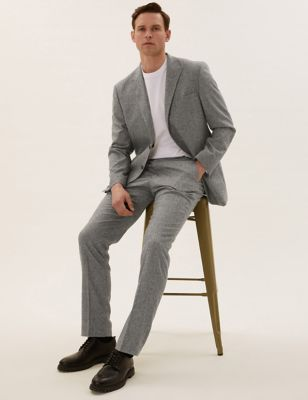 Tailored Fit Italian Wool Suit