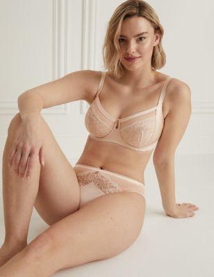 Silk & Lace Set with Minimiser Bra