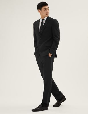 The Ultimate Black Tailored Fit Suit
