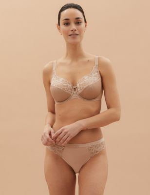 Wild Blooms Underwired Full Cup Bra Set A-E