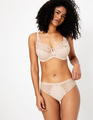 Wild Blooms Non-Padded Bra Set with F-H