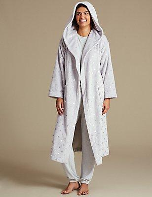 Long Sleeve Pyjama Set with Dressing Gown , , catlanding