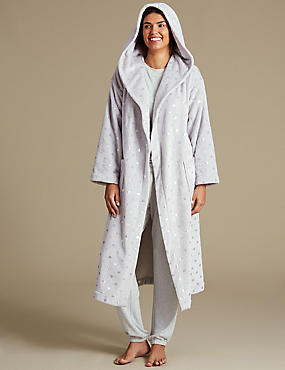 Long Sleeve Pyjama Set with Dressing Gown , , catlanding