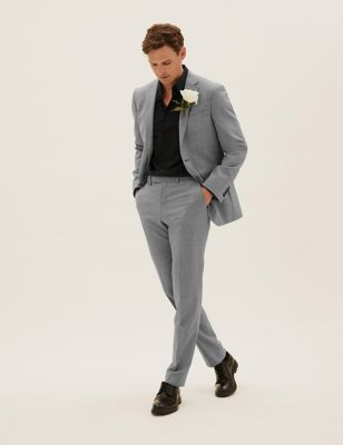 Tailored Fit Wool Puppytooth Suit
