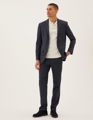 Regular Fit Checked Suits