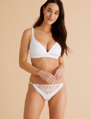 Embrace Embroidered Non Wired Plunge Bra Set A-E