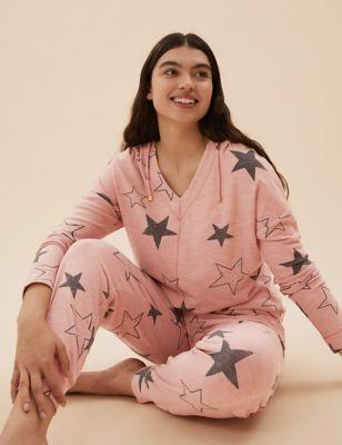Flexifit™ Lounge Star Print Hoodie Set