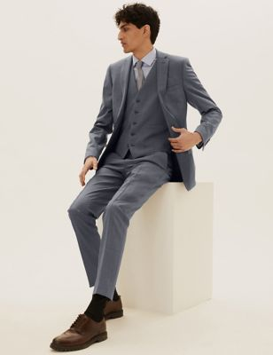 Grey Slim Fit 3 Piece Suit