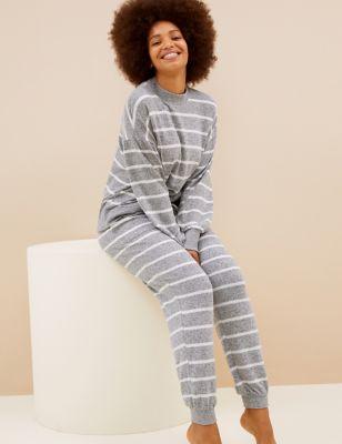Cosy Knit Lounge Striped Pyjama Set