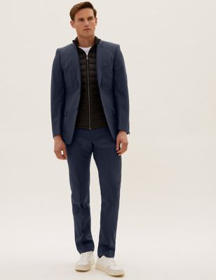 The Ultimate Navy Slim Fit Wool Blend Suit