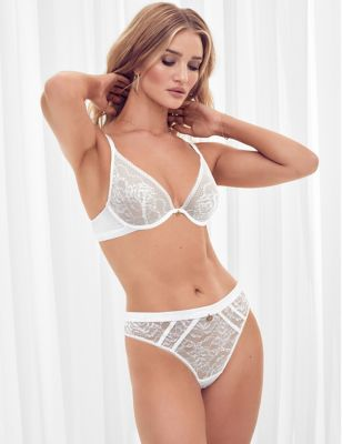 Lace Underwired Padded Full Cup Bra Set A-E