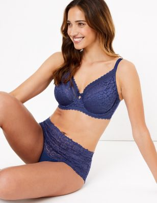 Lace Non-Padded Full Cup Bra Set A-E