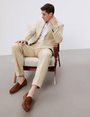 Regular Fit Silk Linen Suit