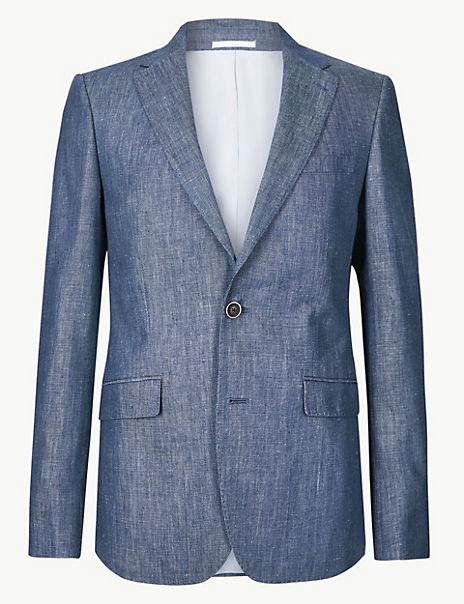Regular Fit Linen Miracle Suit