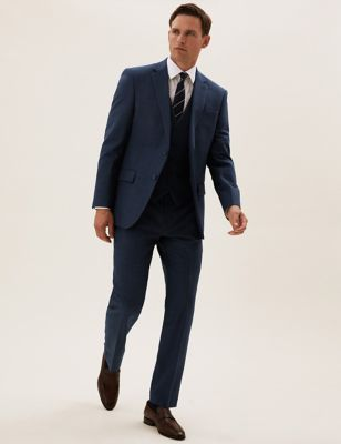 Navy Tailored Fit 3 Piece Suit