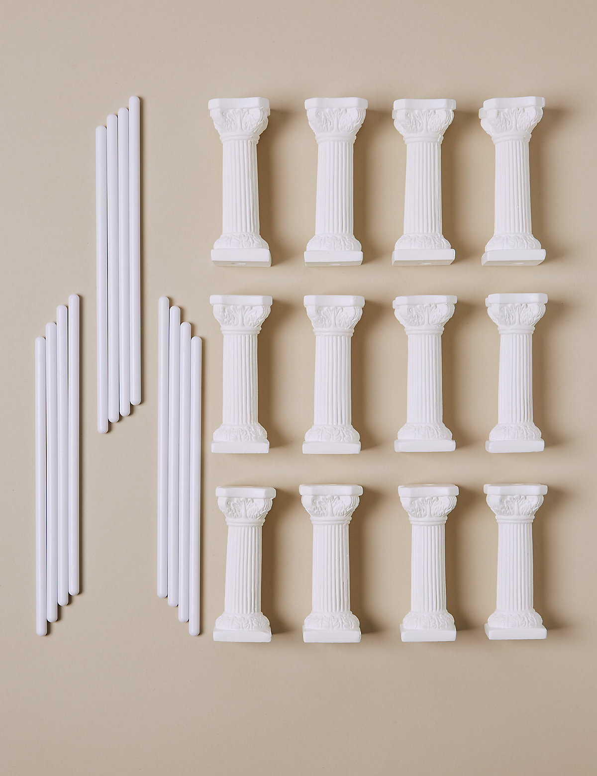 how to dowel a wedding cake uk 12 white pillars amp 12 dowels wedding cake bluewater 15719