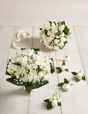 White Rose & Freesia - Wedding Party Package