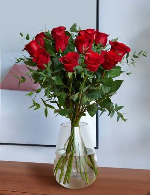 The Collection Dozen Freedom Roses Bouquet