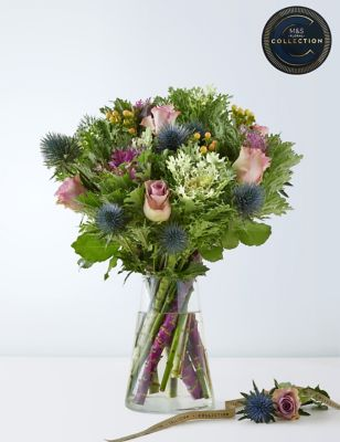 Collection Purple Brassica & Bloom Bouquet