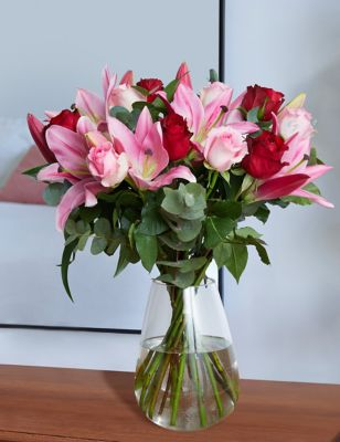 The Collection Valentine's Rose & Lily Bouquet