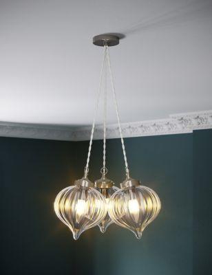 Glass Multi-light Cluster Pendant Light