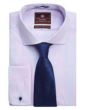 Pure Silk Micro Spotted Tie, NAVY, catlanding